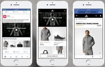 Giao diện hiển thị của quảng cáo Facebook Collection trên di dộng.