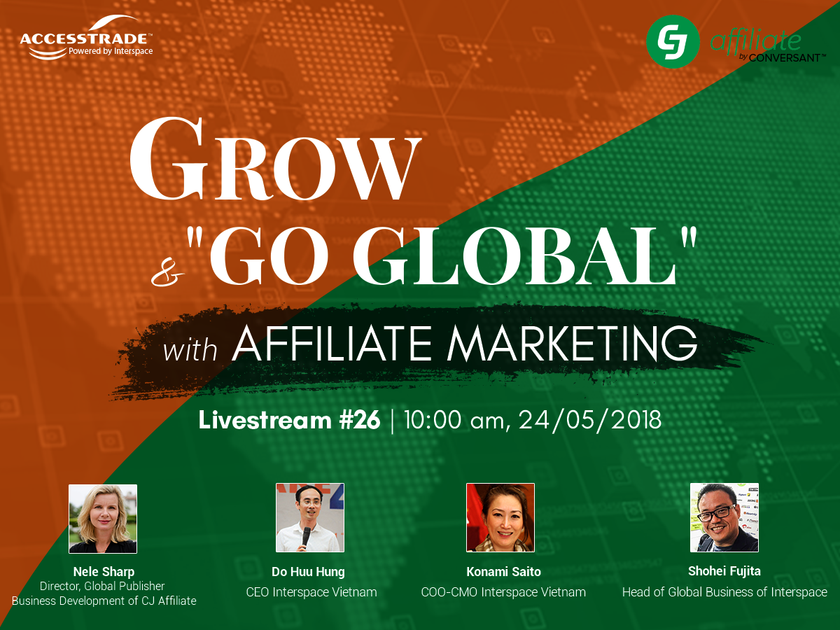 "LIVESTREAM #26: GROW AND ""GO GLOBAL"" WITH AFFILIATE MARKETING"