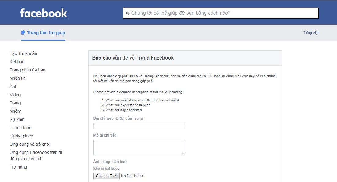 Tổng hợp các cách liên hệ với Facebook khi gặp sự cố mới nhất năm 2019